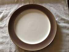 1x Denby White And Brown Dinner Plate