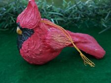 HTF! 1993 HOUSE OF HATTEN RED CARDINAL BIRD CHRISTMAS ORNAMENT~ SNOW MEADOW ~NOS