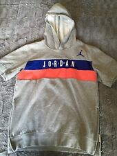 Air Jordan Gray Boys Short Sleeve Side Zipper Sweatshirt Boys XL EUC