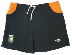 Umbro Mens Large Swim Trunks Blue Orange Made in USA Lined Umbro Beach Soccer