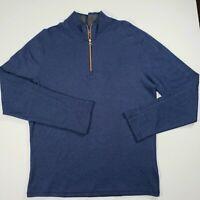 Robert Graham Mens Pullover Sweatshirt Sweater - Navy Blue [Size M] $198 MSRP