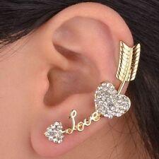 Rhinestone Crystal Cuff Fashion Earrings