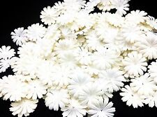 50 White Color Daisy Flowers mulberry paper for Craft & DIY