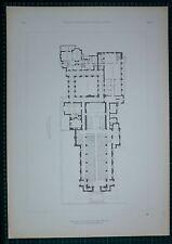 Architettura anni'20 STAMPA nella Cappella di intercession NEW YORK BERTRAM goodhue piano