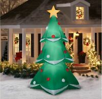 Christmas Tree Inflatable Airblown Yard Lawn Lighted Outdoor Decoration 10 ft