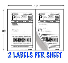 "Shipping Labels 8 1/2"" X 5 1/2""  2 Labels per Page  500 labels"