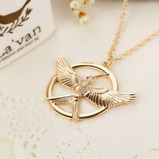 RF The Hunger Games Mockingjay GOLDEN Color Pendant Necklace