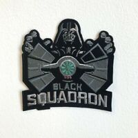 Black Squadron Badge logo Iron Sew on Embroidered Patch