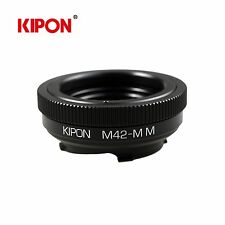 Kipon Macro Adapter with Helicoid Tube for M42 screw Lens to Leica M Camera