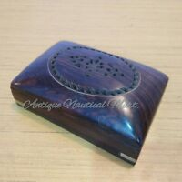 Antique Carved Rose Wood Jewelry Box Handmade
