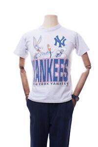 Vintage Nutmeg T-shirt Looney Tunes New York Yankees 1995 Warner Bros Size Boys