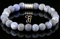Sodalit Armband Bracelet Perlenarmband Buddha blau matt 8mm