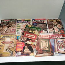 mixed craft cross stitch and plastic canvas 9  magazine lot quick easy projects