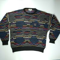 Vtg Mondo Mens Sweater Large 52 Made In Italy Cosby Biggie Style 80s 90s