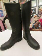 WINNER Equestrian Black Rubber Riding Rain Paddock Boots Wellies US 5 EURO 35