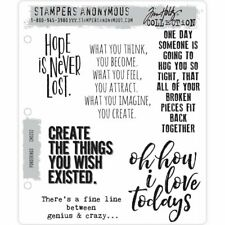 Tim Holtz Cling Stamps - Ponderings