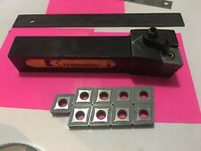 Lathe Tool Holder Inserted Used #Dclnl-124B Kennametal W/10 Inserts All New!