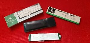 SLIDE RULE FABER CASTELL Novo Biplex 63/83 MADE IN GERMANY IN BOX UNUSED !!!