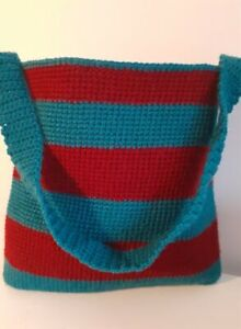 Handmade crochet   shoulder bag  with inside pocket.-New