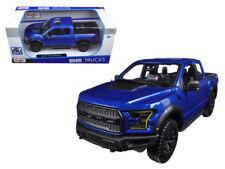 Maisto 1:24 2017 Ford Raptor Pickup Truck Diecast Model Car Blue 31266