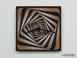 Optical Illusion Brown Wall Clock