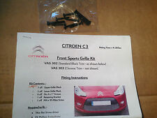 New Genuine Citroen C3 2009 Onwards Accessory Front Sports Grilles Upgrade Kit