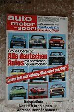 AMS Auto Motor Sport 20/74 Dino 308 Opel Manta GT/E Renault Alpine