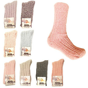Ladies Boot Wool Blend Ribbed Socks Hiking Walking Quality Warm Women Socks