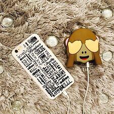 Emoji Funny Monkey Portable 2600mAh Battery Charger Power Bank See No Evil