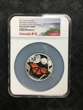2017 Canada Monarch Migration 3 oz Silver Colorized $50 NGC PF69
