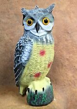 Full Sized Owl Bird & Rodent Deterrent Scarer ~ Protect your Fish & Plants