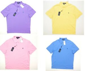 NEW POLO RALPH LAUREN CLASSIC FIT STRETCH MESH SHORT SLEEVE POLO SHIRT