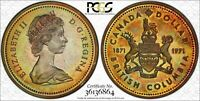 1971 CANADA BRITISH COLUMBIA SILVER$1 DOLLAR PCGS SP66 TONED HIGH GRADE COIN