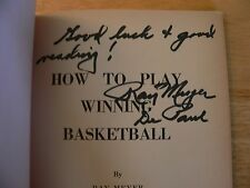 How To Play Winning Basketball - by Ray Meyer - Autographed by Ray Meyer