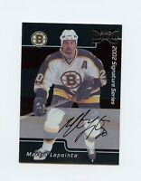 02-03 BE A PLAYER SIGNATURE BUYBACK AUTOGRAPH AUTO LIMITED MARTIN LAPOINTE 61028
