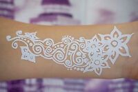 Flash White Lace Henna Tattoos WEISS für Hand und Finger temporäres Tattoo W301