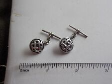 Beautifully Detailed Sterling Silver Celtic Style Cufflinks