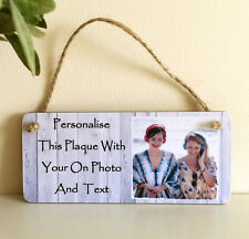 6x3'' Personalised Photo & Text Plaque Birthday Christmas Best Friend Gift