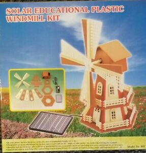 Solar Windmühle NEU OVP Spielzeug Bausatz Demo Modell Solarzelle u Getriebemotor