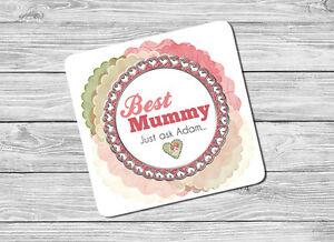 Personalised Best Mummy, Mum Drink Coaster Mothers Day, Birthday, Christmas Gift
