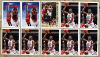 Michael Jordan 1991-92 Upper Deck Chicago Bulls 10ct Card Lot Assorted