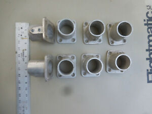 "Lot of 9 Units--""Speed Rail"" Type  Base Fittings 1-1/2"" Aluminum"