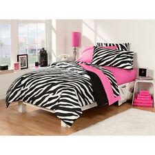 Girl Pink Black Zebra Bedroom Dorm Comforter Sheet Bath Towel 30 pcs Twin XL Set