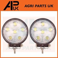 Pair 18W LED work Light Lamp 12V Flood Beam 24V Round Trailer Offroad 4X4 SUV