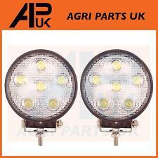 Par De Trabajo Luz Lámpara LED 18W 12V luz de inundación 24V Redonda Remolque Offroad 4X4 SUV