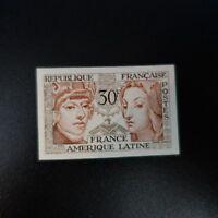 AMISTAD FRANCIA AMÉRICA Nº1060 SELLO NO DENTADO IMPERF 1956 NEUF LUXE MNH
