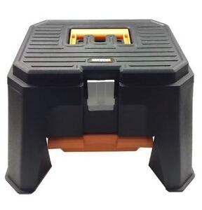 """WORX WA4214 13"""" Storage Step Stool with Accessory Drawer & Metal Lock"""