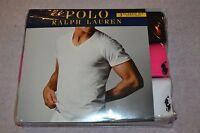 Polo Ralph Lauren Set of 3 Classic Fit Cotton V-Necks T-Shirts Size: X-Large NIB