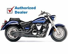 Cobra Black Speedster Swept Exhaust Pipes 2007-2016 Yamaha XVS1300A V-Star