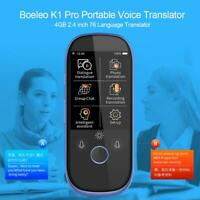 Boeleo K1 pro Tragbar Voice Übersetzer Internet Wi-Fi 4GB 6.1cm 76 Sprachen